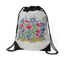 Flowers in Spring Drawstring Bag