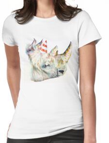 Rhino Party Womens Fitted T-Shirt