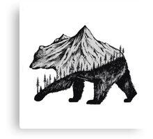 mountain bear Canvas Print