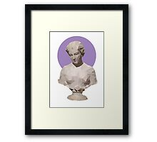 Colored Polygonal Bust Framed Print