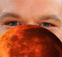 Mars On Matt Damon Sticker