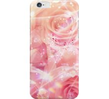 Glittered Pink Roses Shining Bright iPhone Case/Skin