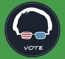 Vote Bernie Sanders - DarkBlue Version Kids Tee