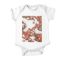Leaves in the Snow One Piece - Short Sleeve