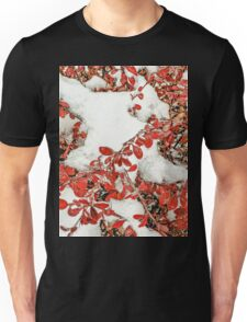 Leaves in the Snow Unisex T-Shirt