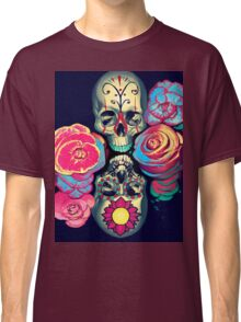 Skulls and Flowers Classic T-Shirt