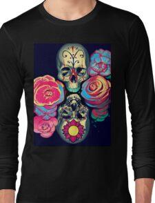 Skulls and Flowers Long Sleeve T-Shirt