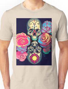 Skulls and Flowers Unisex T-Shirt