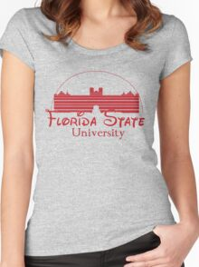 FSU Westcott Building (Cinderella's Castle Parody) Women's Fitted Scoop T-Shirt
