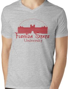 FSU Westcott Building (Cinderella's Castle Parody) Mens V-Neck T-Shirt