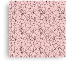 Web Pink and Black Canvas Print