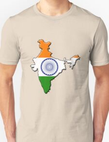 India flag and outline Unisex T-Shirt