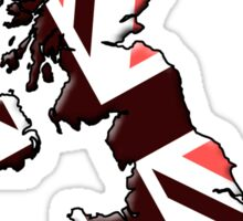 British flag and outline Red Sticker