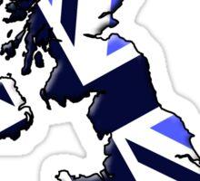 UK flag and outline Blue Sticker