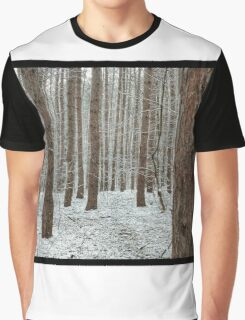 April snowstorm on pines Graphic T-Shirt