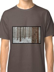 April snowstorm on pines Classic T-Shirt
