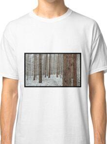 April snowstorm on pines Classic T-Shirt