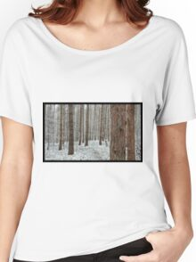 April snowstorm on pines Women's Relaxed Fit T-Shirt