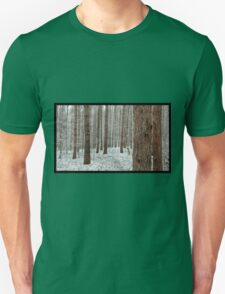 April snowstorm on pines Unisex T-Shirt