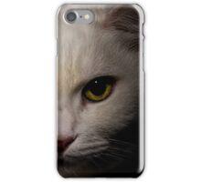 white cat close up iPhone Case/Skin