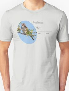 Bird Book Apparel - Song Sparrow Unisex T-Shirt