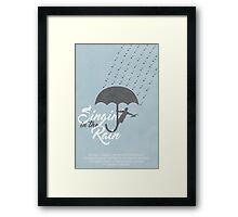 Singin' in the Rain Poster Framed Print
