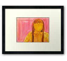 Faceless Framed Print