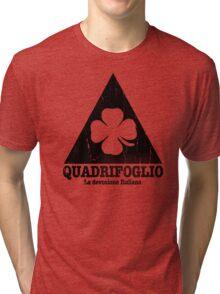 Quadrifoglio Cutout Black Vintage Graphic Tri-blend T-Shirt
