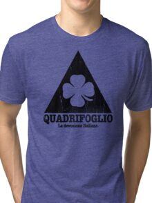 Quadrifoglio Cutout Black Vintage Graphic Tri-blend T-Shirt