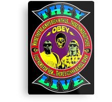 They Live Colour Metal Print