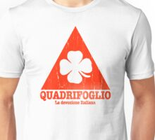 Quadrifoglio Cutout Red Vintage Graphic Unisex T-Shirt