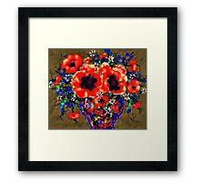 Joyful Poppies Framed Print