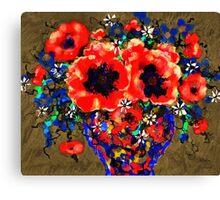 Joyful Poppies Canvas Print