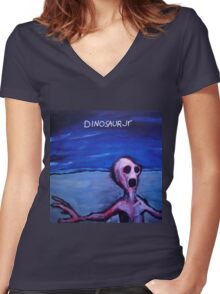 Dino Jr Women's Fitted V-Neck T-Shirt