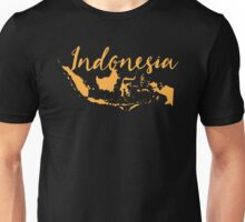 Indonesia with map Unisex T-Shirt