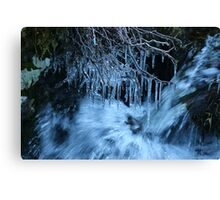 Ice and water Canvas Print