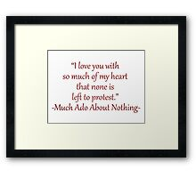 I Love You With So Much Of My Heart Framed Print