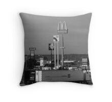 Lincoln, Nebraska - Trucks, Gas and Motels Throw Pillow