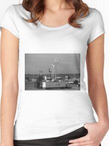 Lincoln, Nebraska - Trucks, Gas and Motels Women's Fitted Scoop T-Shirt