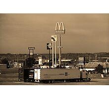 Lincoln, Nebraska - Trucks, Gas and Motels Photographic Print