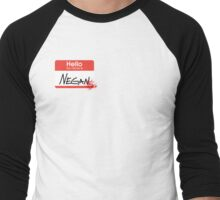 Hello, my name is Negan Men's Baseball ¾ T-Shirt