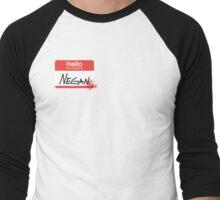 Hello, my name is Negan Men's Baseball ¾ T-Shirt