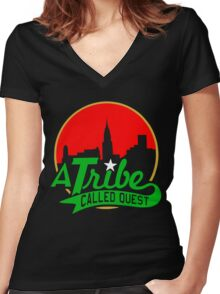 ATCQ (A Tribe Called Quest) Women's Fitted V-Neck T-Shirt