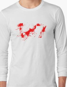 187 (Red) Long Sleeve T-Shirt