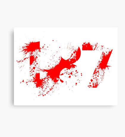 187 (Red) Canvas Print