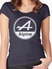 Alpine White Vintage Graphic Women's Fitted Scoop T-Shirt