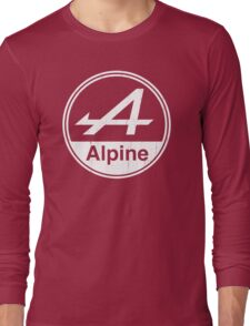 Alpine White Vintage Graphic Long Sleeve T-Shirt