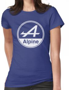 Alpine White Vintage Graphic Womens Fitted T-Shirt