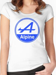 Alpine Blue Vintage Graphic Women's Fitted Scoop T-Shirt