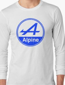 Alpine Blue Vintage Graphic Long Sleeve T-Shirt